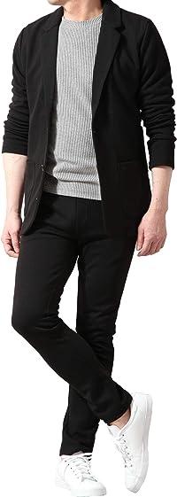 【KOKUBO】テレワーク セットアップ ストレッチスーツ メンズ テーラード ジャケット パンツ アクティブ ポンチジャージ素材 スリム カジュアル ビジネス 在宅 テレワークスーツ 快適素材 上下セット
