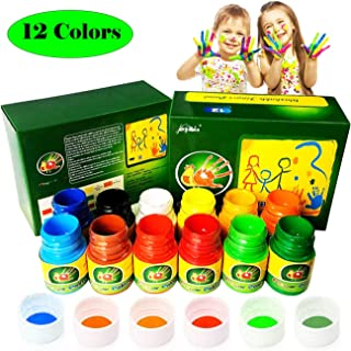 Magicdo Washable Finger Paint Kit for Kids, 12 Colors Kids Paint Set, School Painting Supplies,Non-Toxic Finger Painting Kit for Arts, Crafts and Posters