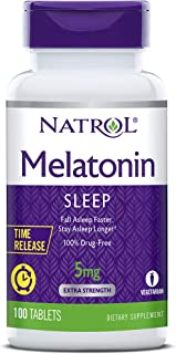 Natrol Melatonin Time Release Tablets, Helps You Fall Asleep Faster, Stay Asleep Longer, Faster Absorption, 100% Vegetaria...