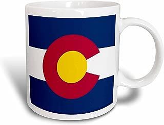 3dRose mug_55386_1 State Flag of Colorado PD-US Ceramic Mug, 11-Ounce