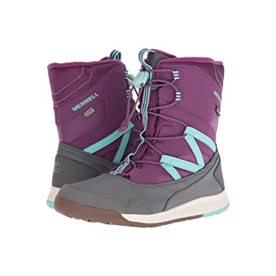 Merrell Kids Snow Bank 3.0 Waterproof (Big Kid) (Purple/Turquoise) Girls Shoes