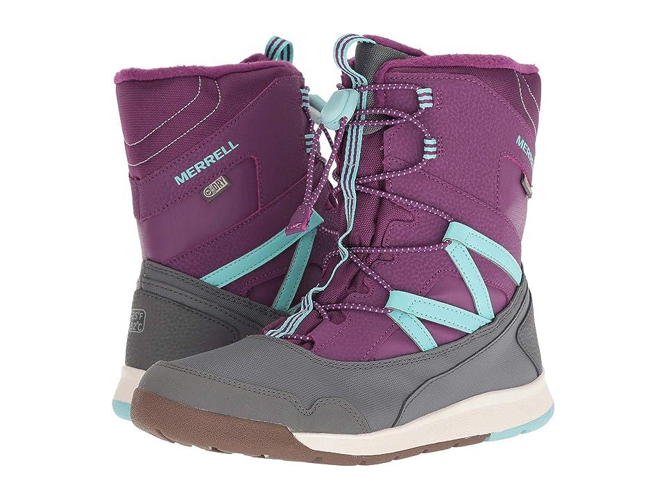 Merrell Kids Snow Bank 3.0 Waterproof (Big Kid) (Purple/Turquoise) Girls Shoes