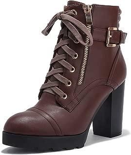 IDIFU Women's Tasseled Wedge Boots Booties Heels
