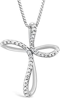 Diamond Necklace in Sterling Silver (1/10 cttw)