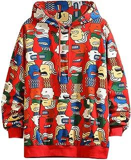 〓VigorY〓Womens Fit Casual Sweatshirt Pullover Tops Shirts Dinosaur Sweatshirt Tops Loose Pullover Long Sleeve Blouse