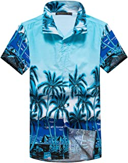 AKDSteel Summer Beach Loose Parent-child Clothes Fashion Casual Hawaiian Style Shirt