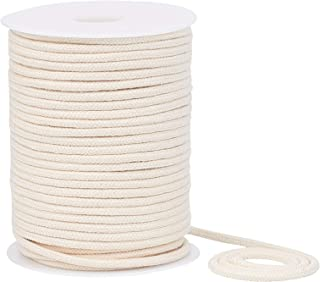 BENECREAT 4mm 45 Yard Cotton Cord Trim Piping String Off-White Crafts Welt Cord with Spool for DIY Crafts, Wall Hangings, ...