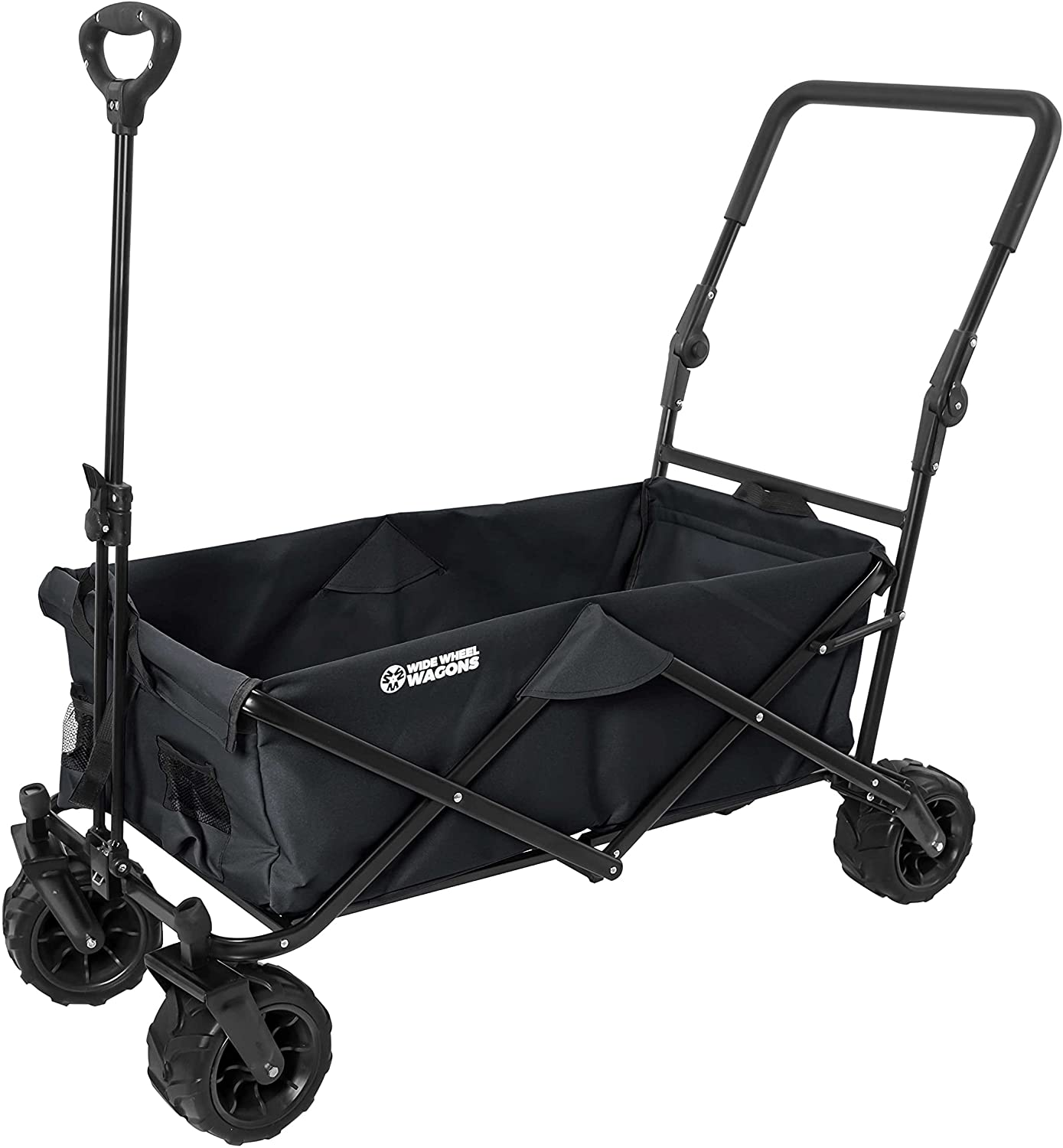 Black Wide Recommended Wheel Wagon All-Terrain Sacramento Mall Utility Folding W Collapsible