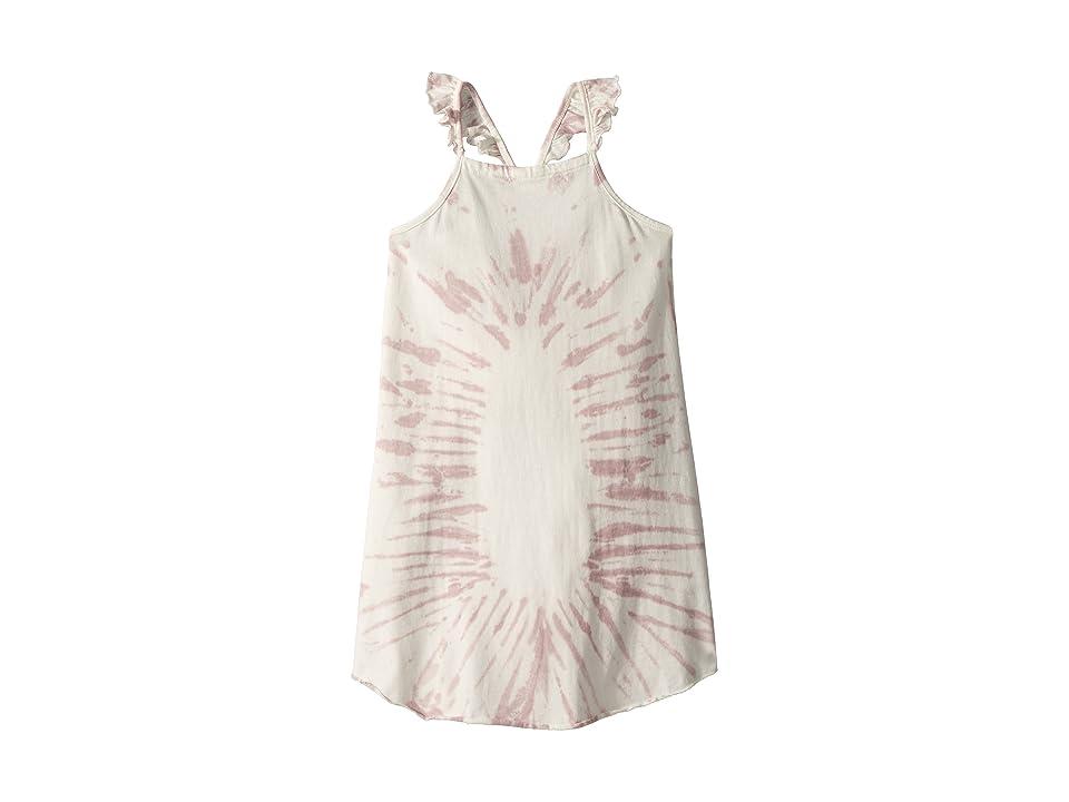 Chaser Kids Super Soft Ruffle V-Back Cami Shirttail Dress (Little Kids/Big Kids) (Tie-Dye) Girl