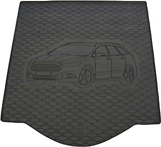 Kofferraumwanne Antirutschmatte für Ford Mondeo Laderaumwanne Gummi Schwarz