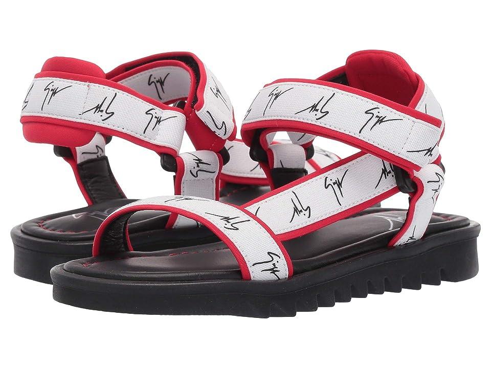 Giuseppe Zanotti Kids Bond Gomma Sandals (Toddler/Little Kid) (Black/Red) Kids Shoes