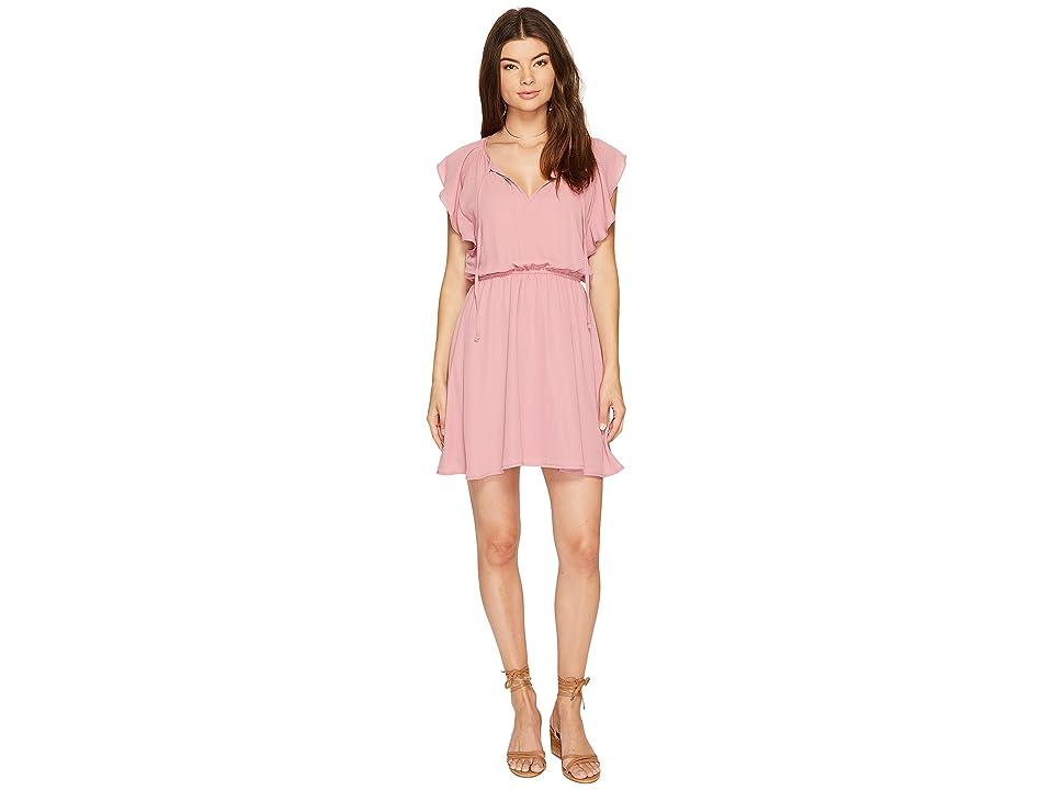 BB Dakota Adrienn Front Tie Dress (Dusty Rose) Women