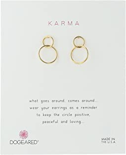 Dogeared Karma, Linked Circle Earrings