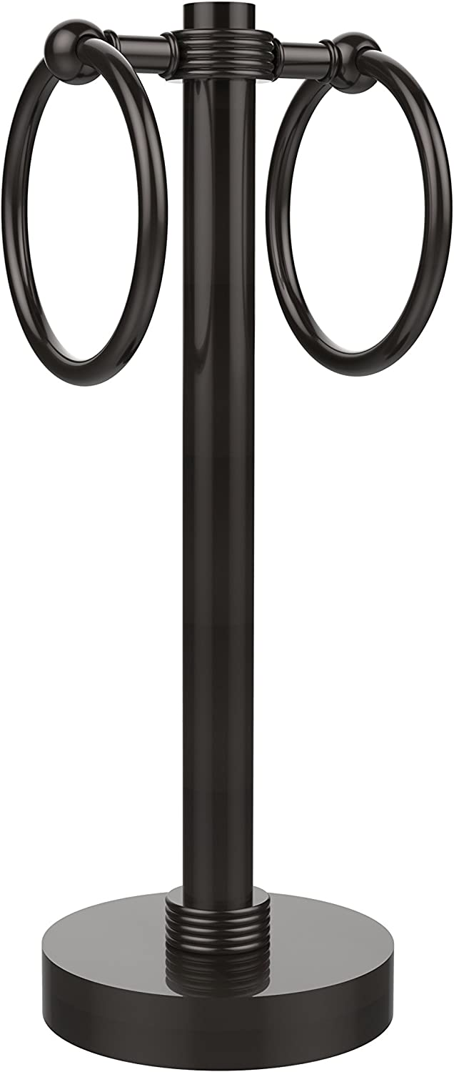Allied Brass 953G-ORB 2-Ring Guest Towel Holder, Oil Rubbed Bronze
