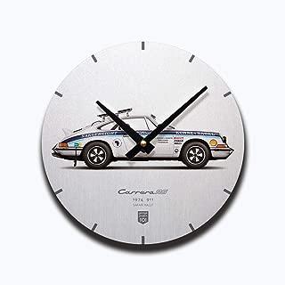GarageProject101 1974 Classic 911 Carrera RS (Safari Rally) Illustration Wall Clock