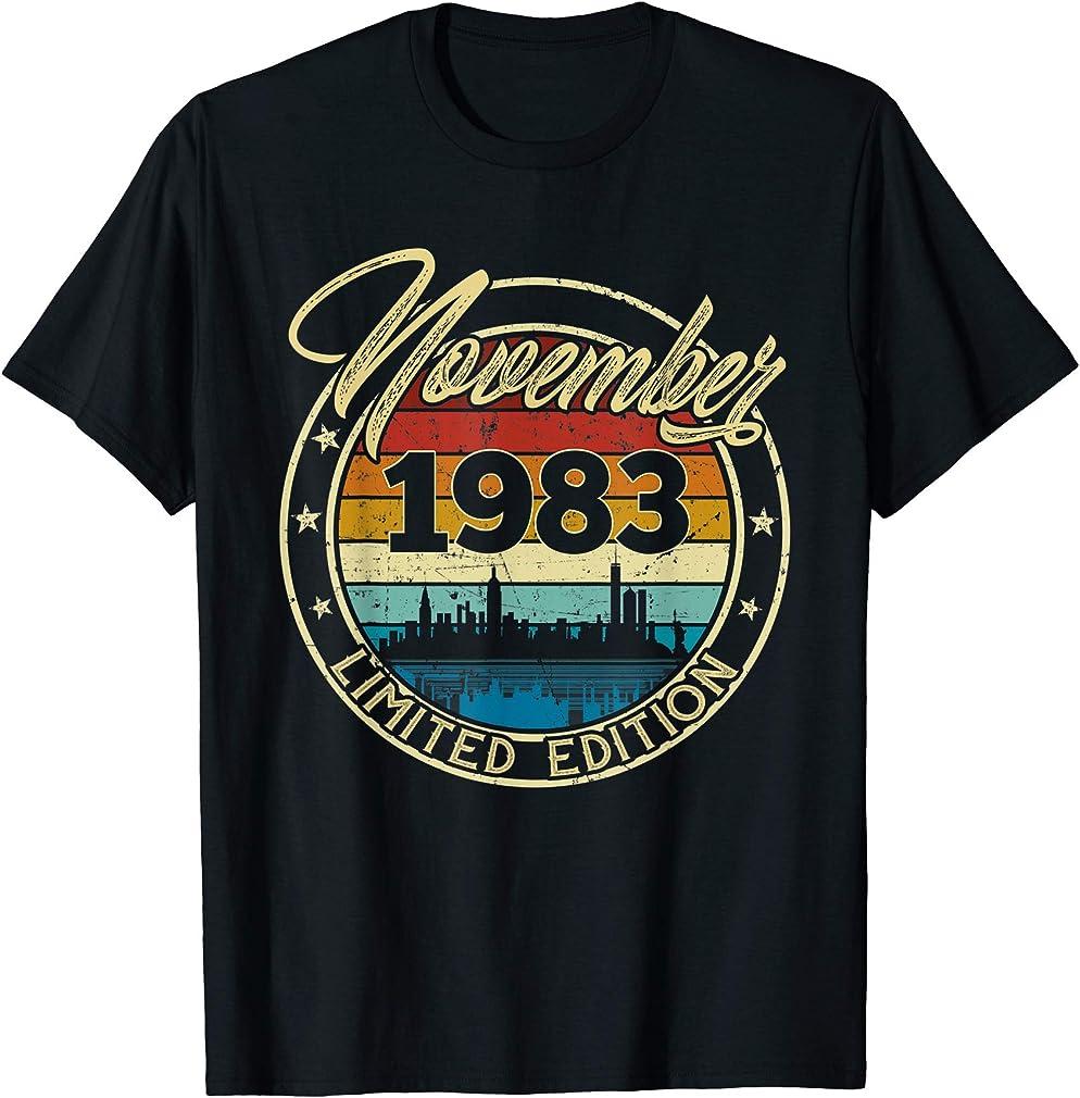 Classic November 1983 36 Years Old 36th Birthday Gift T-shirt