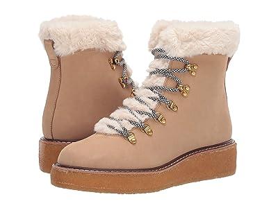 J.Crew Nubuck Crepe Sole Wedge Winter Boot (Golden Khaki) Women