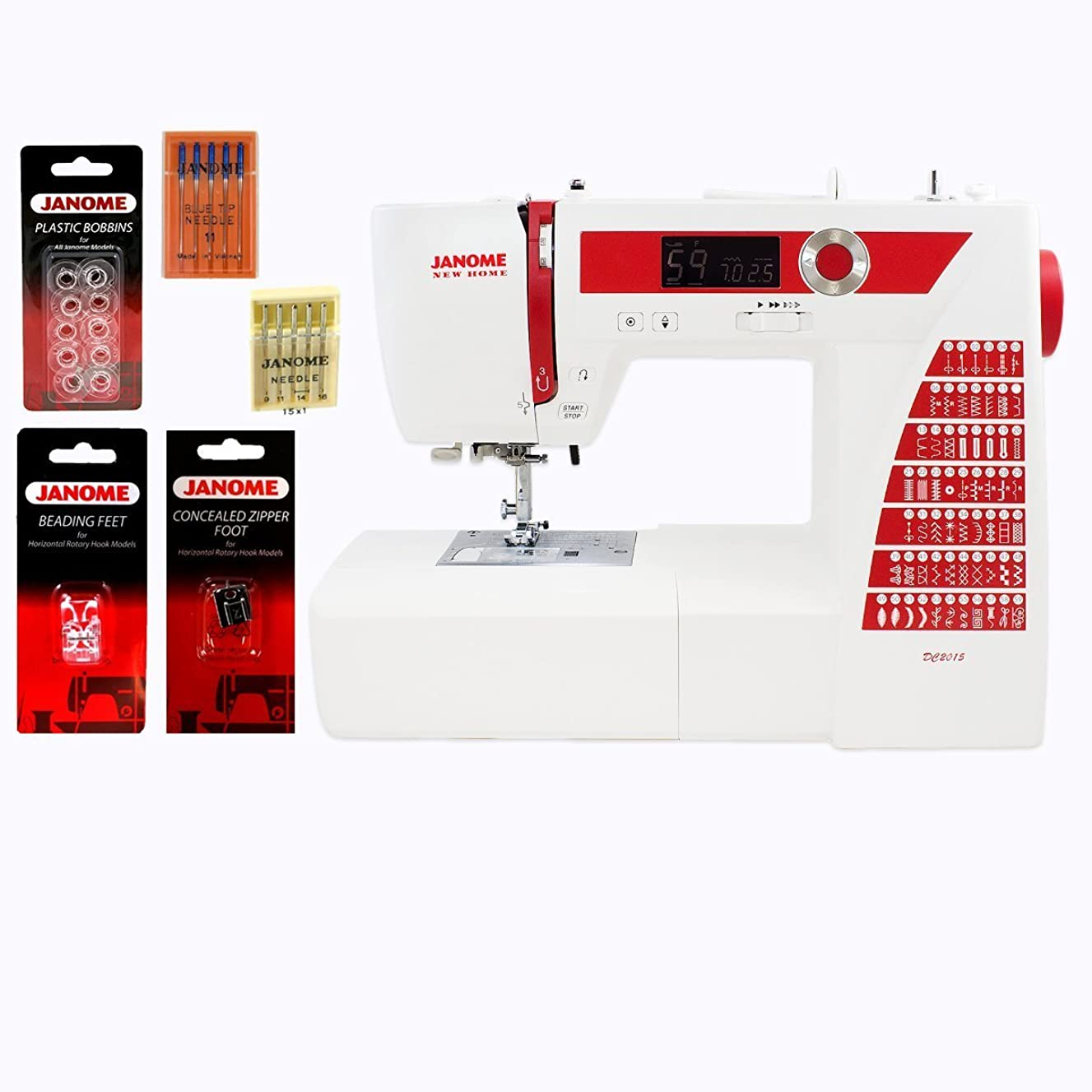 Janome DC2015 Computerized Sewing Machine with Accessories