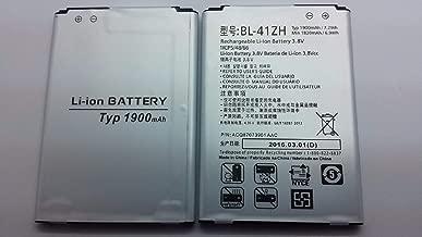 Replacement Battery for LG LS665 DIETINY L21G Power L22C Leon C40 Sunset L33L NET10 Straight Talk TRACFONE BL-41ZH 1900 MAH