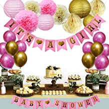 Golden Baby Shower Decorations for Girl with E-Book Baby Shower Games, 30 Pcs Photo Booth Props, 10 Pcs Premium Baloons from Manufacturer