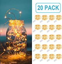MUMUXI 20 Pack Fairy Lights Battery Operated, 3.3ft 20 LED Mini Waterproof Fairy String Lights Copper Wire Firefly Starry ...