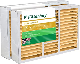 FilterBuy 20x25x5 Air Filter (2-Pack, MERV 11), Pleated Replacement HVAC AC Furnace Filters for Honeywell, Carrier, Bryan...