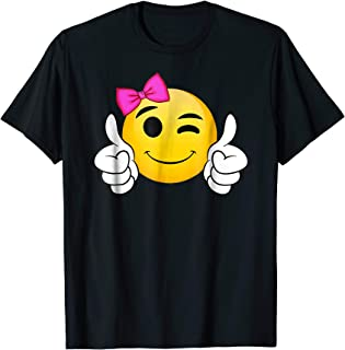 Emojicon smiley face thumbs up clothing tee gift for girls