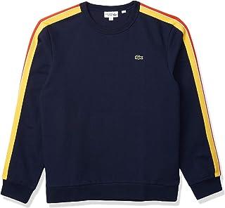 Men's Long Rainbow Sleeve Striped Crewneck Sweatshirt