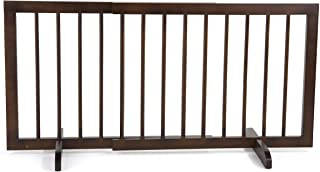 Cardinal Gates Step Over Gate, Walnut - Freestanding Pet Gate, Perfect as a Puppy Gate, Designed for Small to Medium Sized Breeds