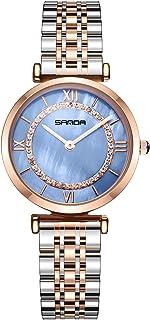 RORIOS Moda Mujer Relojes de Pulsera Acero Inoxidable Relojes de Mujer Reloj de Dama