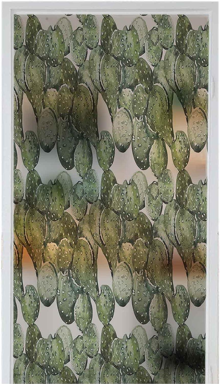 Decorative Glass Sticker Max 54% Latest item OFF Privacy Window Them Botany Cactus Films