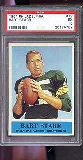 1964 Philadelphia #79 Bart Starr Green Bay Packers 5 Graded Football Card - PSA/DNA Certified - Football Slabbed Vintage Cards