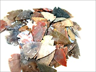 Jet Arrowheads Pack of 50 Mix Approx. 0.75 inch - 1.25 inch Agate Stone New Age Metaphysical Free Booklet Jet International Crystal Therapy Healing Spiritual Divine India Image is JUST A Reference