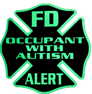IdentiFire® Occupant with Autism safety decal for car/truck/home