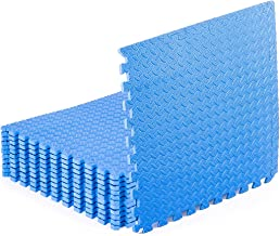 """ProsourceFit Puzzle Exercise Mat ½"""", EVA Foam Interlocking Tiles Protective Flooring for Gym Equipment and Cushion for Wor..."""