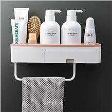 YINGNBH Badkamerrek badkamerrek douche caddy organizer wandmontage shampoo rek met lade handdoekrail geen boorkeuken opsla...