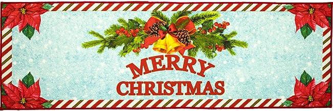 Softlife Merry Christmas Decorative Rug 24 x 72 inch Indoor Entrance Doormat Welcome Runner Rug for Bedroom Playroom Kitch...
