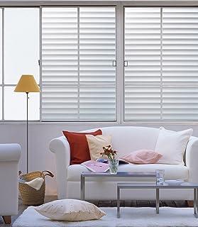 DUOFIRE Vinilo para Ventana de Privacidad Vinilo de Ventana Persianas Decorativa del Película de Ventana Autoadhesiva Sin Pegamento Película para Vidrio Anti-UV (60cm X 300cm, DP040)
