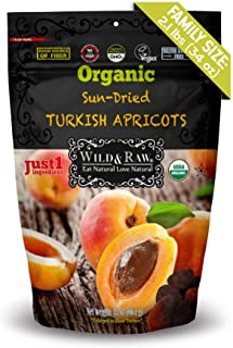 ORGANIC TURKISH APRICOTS SULFUR-FREE - BULK SIZE - 2.1lbs (34oz) - Kosher Non-GMO Sun-Dried