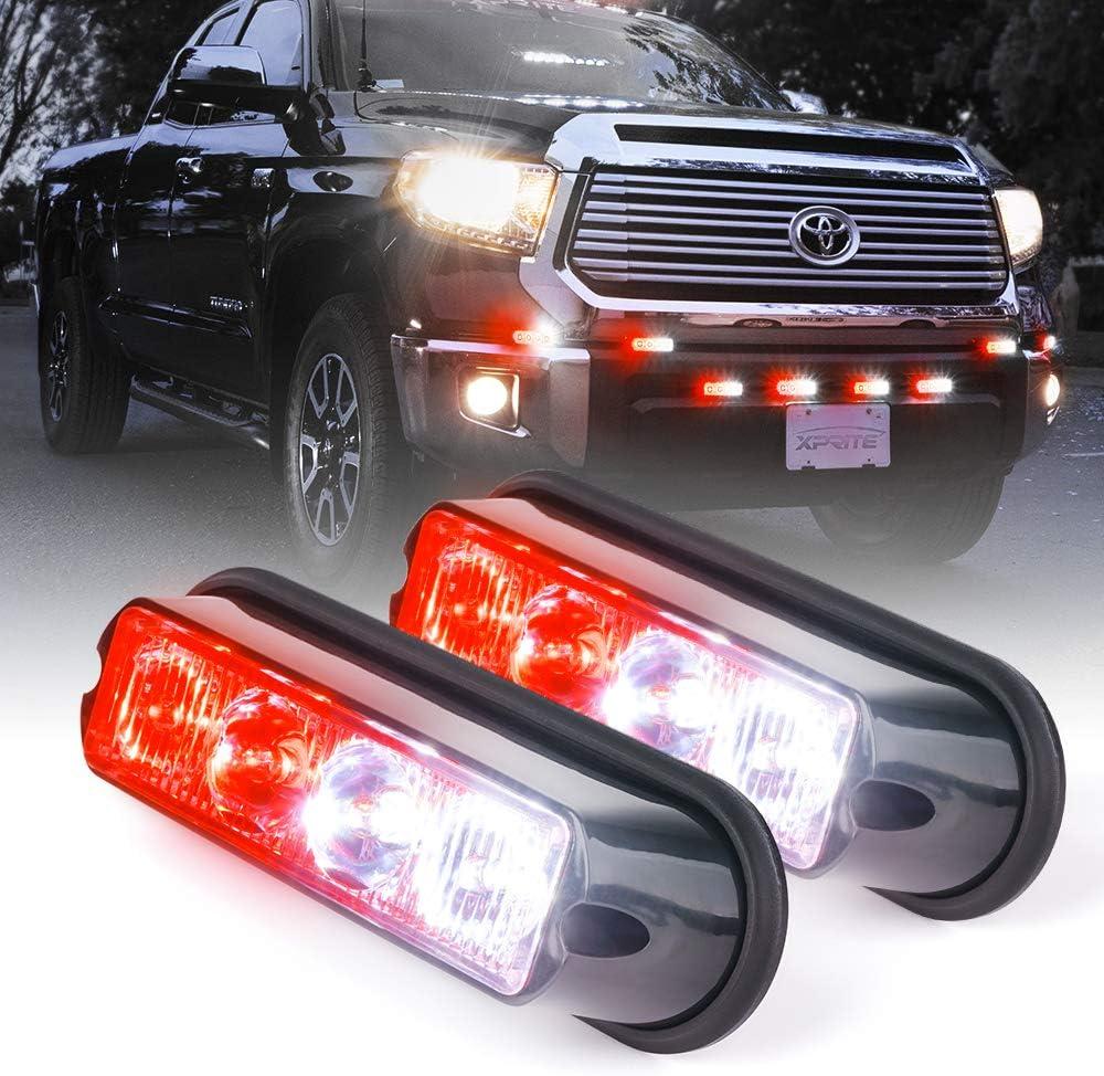 Cheap super special price Xprite Regular store White Red 4 LED Vehicle Sur Watt Emergency Waterproof