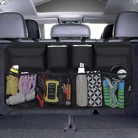 Powertiger Auto Mülleimer Kfz Abfalleimer Wasserdicht Abfallbehälter Auslaufsicher Autositztasche Für Müll Schwarz 6 5ltr Kapazität Baby