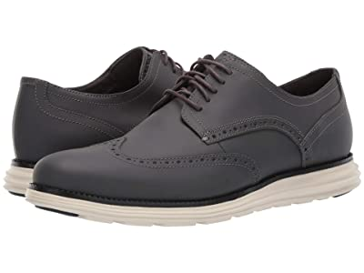 Cole Haan Original Grand Wing Chorino Matte Leather (Gray Matte) Men
