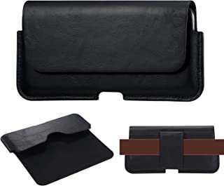 ベルトケース ベルトホルダー ウエストポーチ 横型 本革 6.5 インチ iPhone 12 Pro Max/Xperia XA Ultra,10 II,L4,5,XA2 Plus,XZ3,5,1 II各機種対応