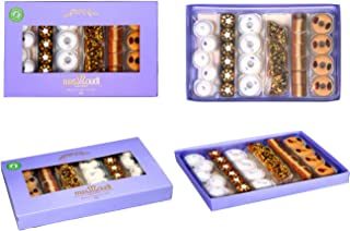 Masmoudi Pastry GLUTEN FREE Assorted Gift Box 10.5 oz 35 Pieces of Natural Hand Made Nuts&Chocolate Truffles Assortment The Perfect Snack,Dessert or Gift Idea Low Sugar,Low Carbs,Hight Quality Product
