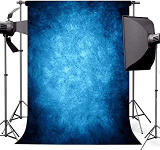 econious Photo Backdrop, 5x7ft Retro Abstract Blue Portrait Backdrop for Photography, Resistant Fleece-Like Cloth Fabric, with Rod Pocket (Backdrop Only)