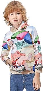 Kid's Novelty Sweater Rose Sheltie Shetland Sheepdog Hoodie Teen's Long Sleeve Sportswear Fleece Hood Pullover-