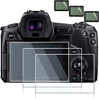 debous Screen Protector Compatible Canon EOS R Mirrorless Digital Camera,Anti-Scratch Tempered Glass Clera Hard Protective Film Shield Cover (3pack)
