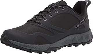حذاء المشي لمسافات طويلة للرجال من Merrell، أسود/صخري - 12 وسط