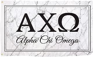 Alpha Chi Omega Marble Box Letter Sorority Flag Banner 3 x 5 Sign Decor AXO - Marble Box