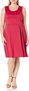 Star Vixen Women's Plus-Size Sleeveless Box-Pleat Dress